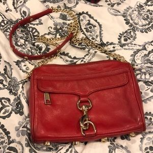 Rebecca minkoff mini MAC red crossbody